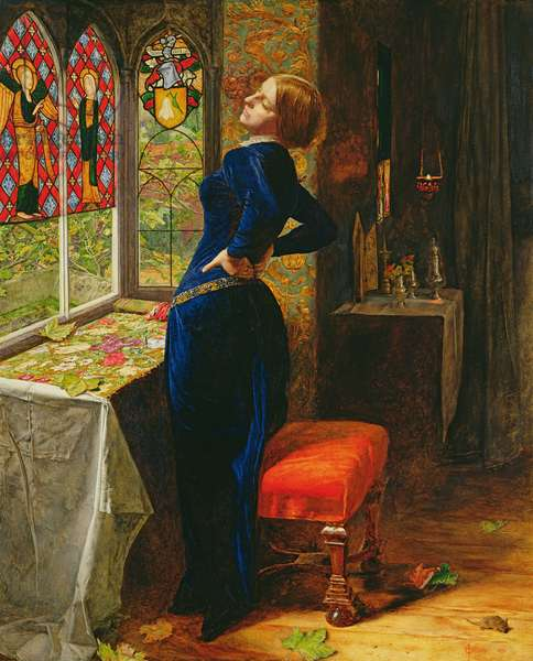 Mariana in the Moated Grange, 1851 (oil on panel)