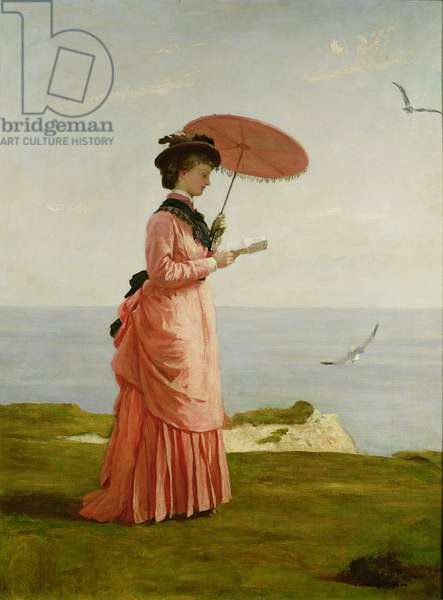 Lady Tennyson on Afton Downs, Freshwater Bay, Isle of Wight