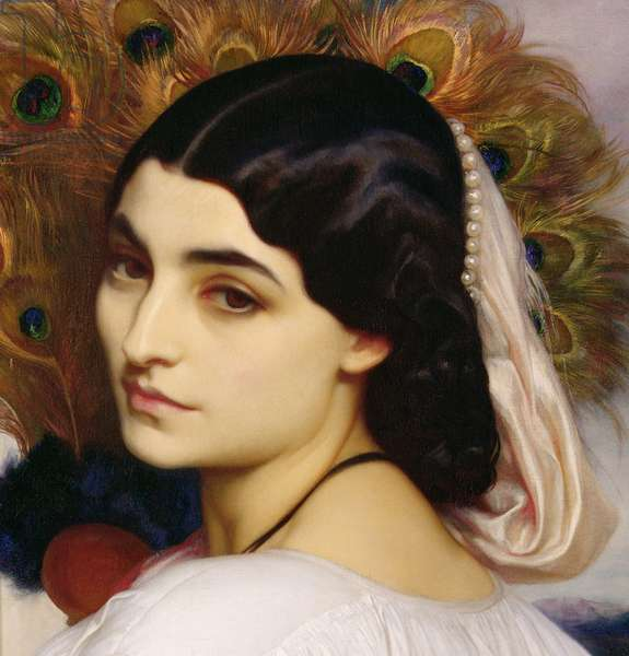 Pavonia, 1859 (oil on canvas) (detail of 64816)