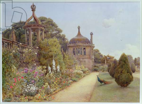 The Gardens at Montacute, Somerset, 1893 (w/c on paper)