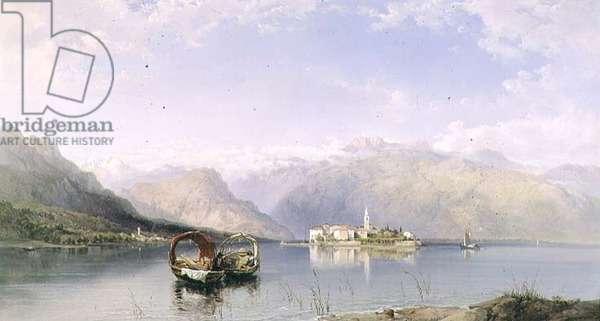 Isola Pescatori from Isola Bella on Lake Maggiore, 1855