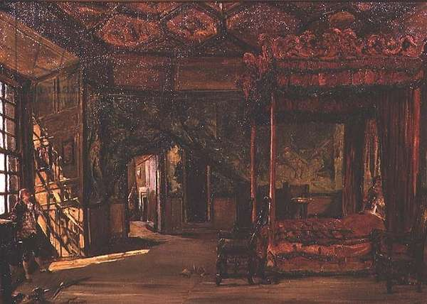 Queen Mary's Bedroom, Holyrood (oil)