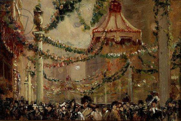 Decorations in St. James's Street for the Coronation of King George V, 1910 (board) (pair of 71554)