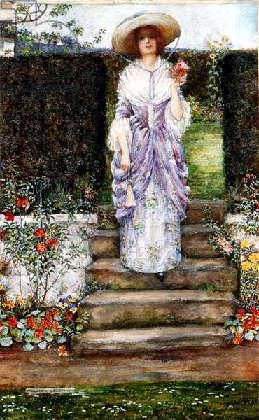In an Old Garden, 1921 (w/c)
