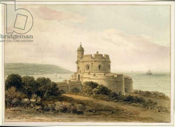 St. Mawes Castle, Cornwall, 1821 (w/c)