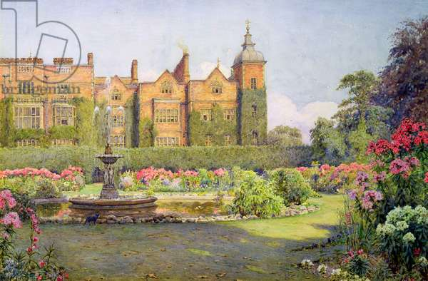 West Front and Gardens of Hatfield House, Herts