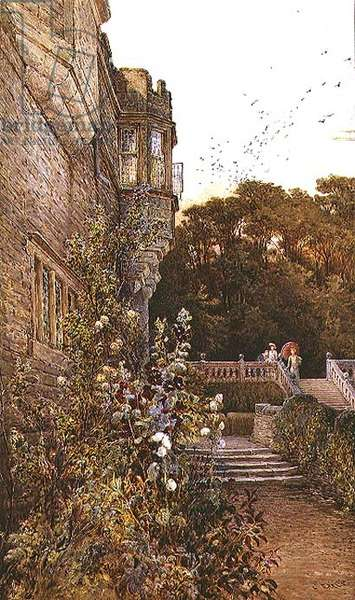 On the Terrace, Haddon Hall (w/c)