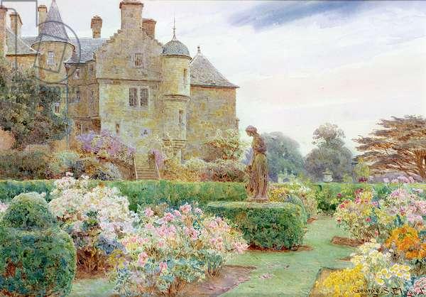 The Rose Garden, Balcaskie (w/c on paper)