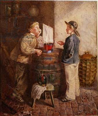 The Young Shipwright, 1866 (oil on canvas)