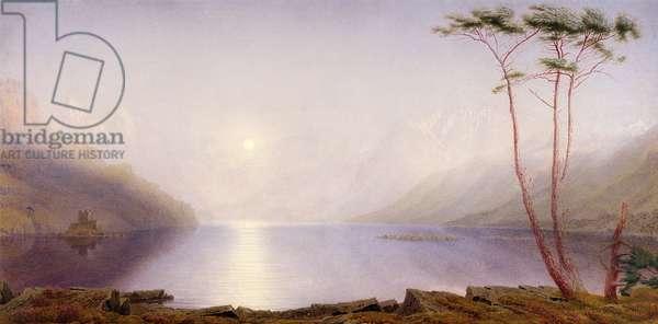 Loch Duich, Summer Moonlight (w/c on paper)