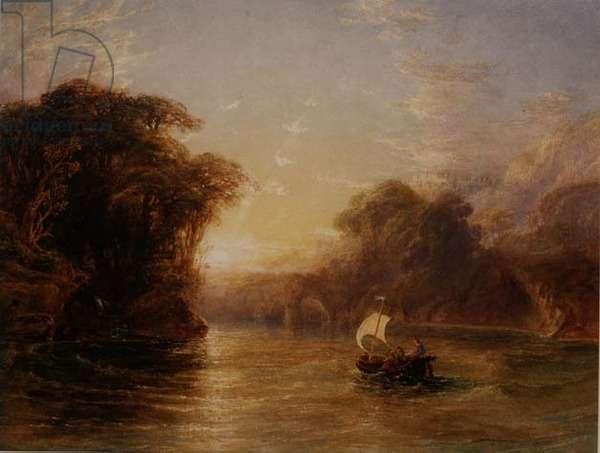 Ubaldo and Carlo in the Enchanted Boat, 1836 (w/c)