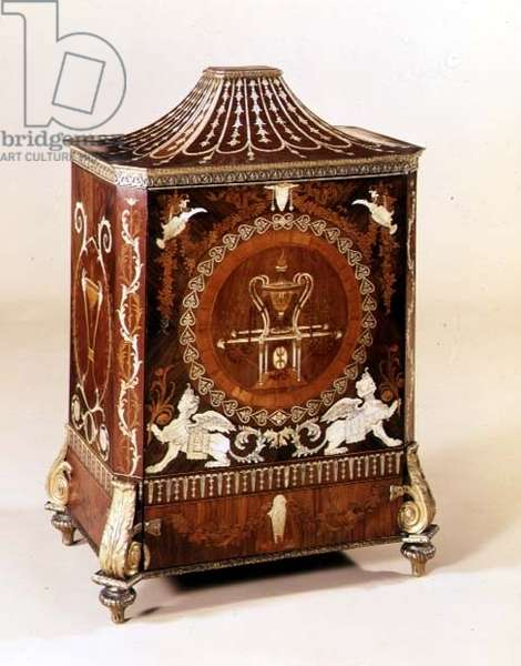 George III neo-classical side cabinet, inlaid with ivory, with ormolu mounts, attributed to Matthew Boulton, English, c.1775