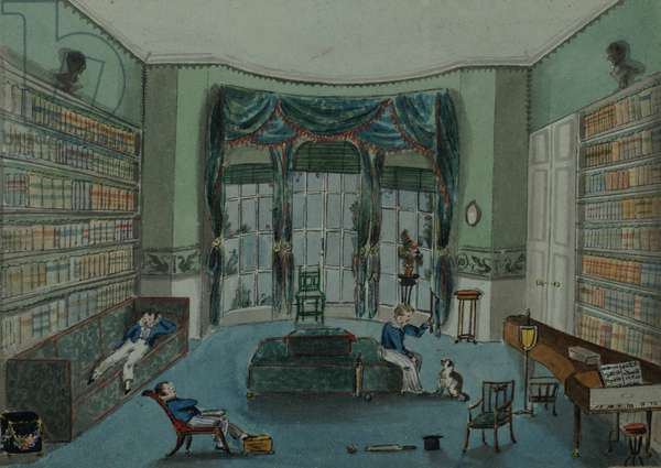 The Library, c.1820, Battersea Rise