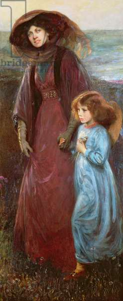 Portrait of Mrs Muriel Waddington and Daughter