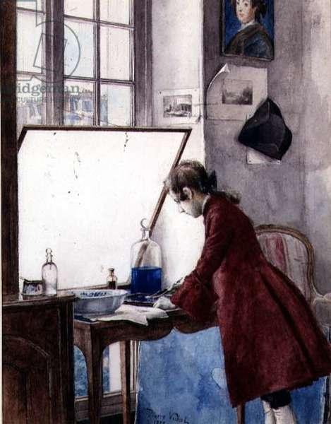 The Printmaker, 1878 (w/c)