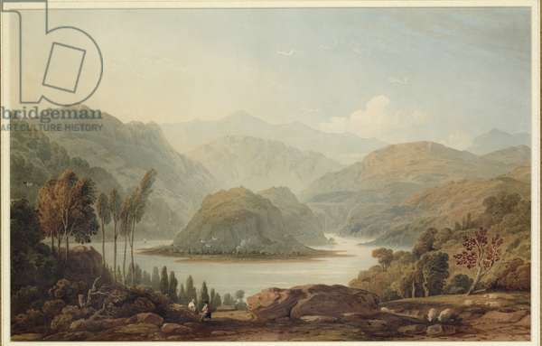 View of the Mondego River, Spain, 1813 (w/c on paper)