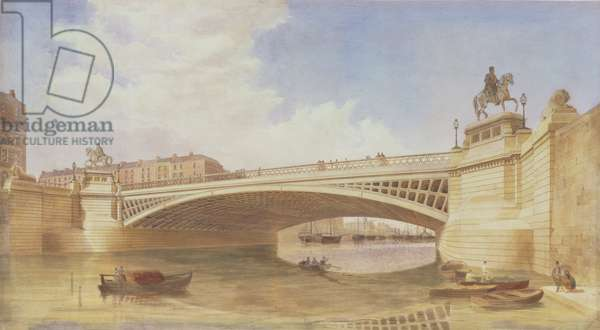 Design for Carlisle Bridge, now O'Connell Bridge, Dublin, attributed to the office of Messrs Turner and Page (w/c)