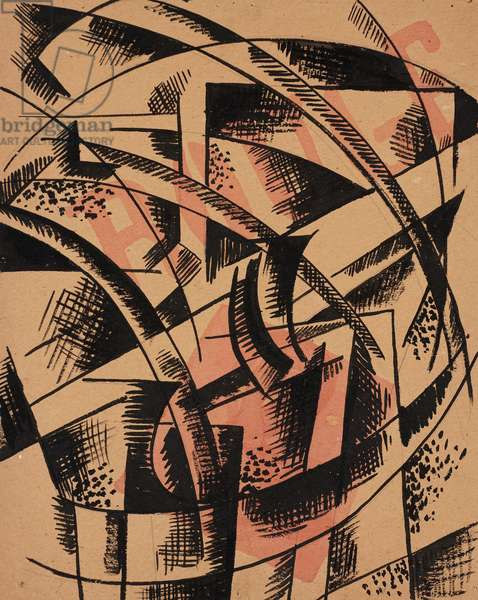 Composition 'ROUGE', 1921 (India ink, w/c & pencil on heavy paper)