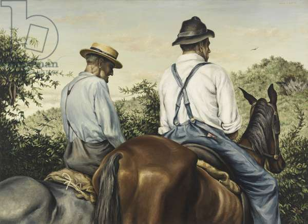 Kentucky Hills, 1943 (oil on canvas)