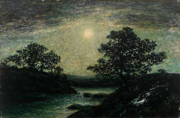 Silvery Moonlight (oil on canvas)