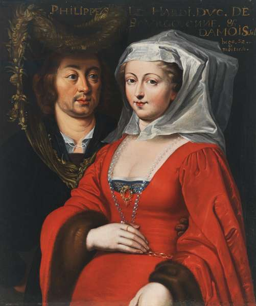 Philip the Bold, Duke of Burgundy and Mademoiselle [bega], His Lady, 17th century (oil on canvas)