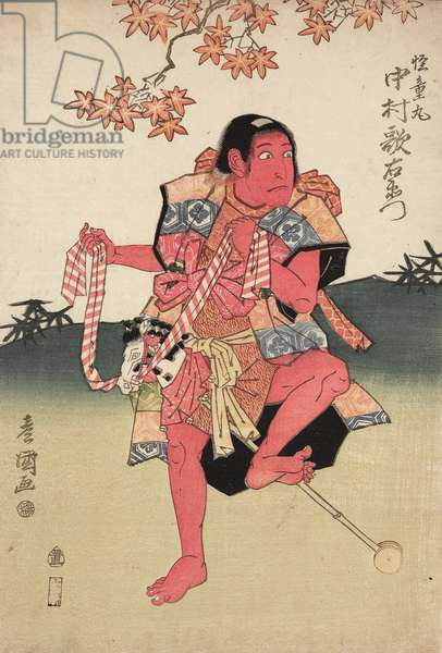 Nakkamura Utaemon III as Kaidomaru, c.1817 (woodblock print)