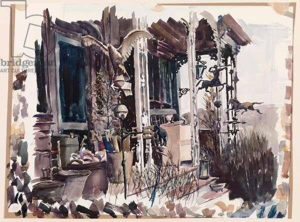 Antique Dealer's Porch (w/c on paper)