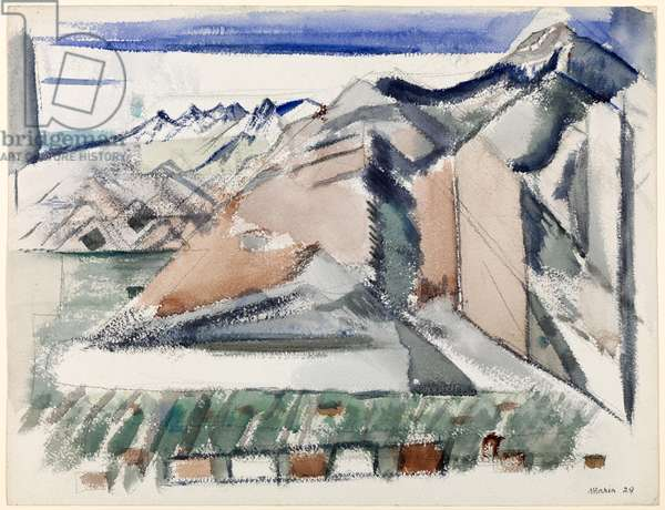 Mountain near Taos, 1929 (w/c over pencil on paper) (see also 713391)