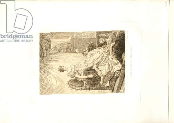 L'Impératrice Joséphine, engraved by Pierre-Michel Adam (b.1799), mid-19th century (etching)
