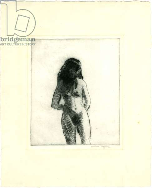Nude Facing Front, 1919-1923 (drypoint)