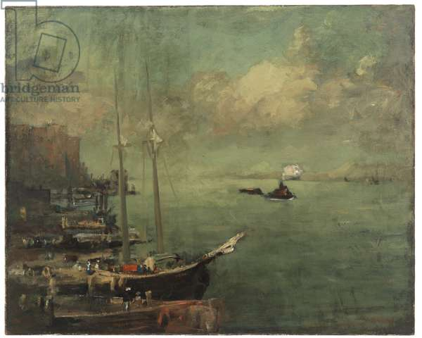 On the East River, 1900-1902 (oil on canvas)