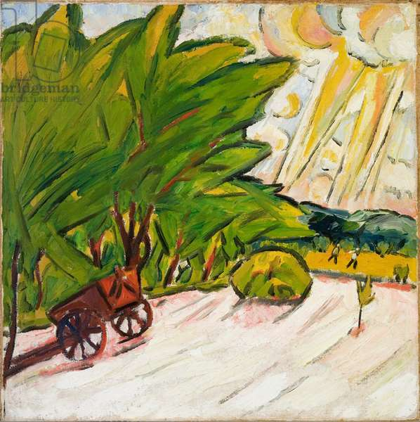 Landscape - Sketch (Paysage. Etude), 1906 (oil on canvas laid on fiberboard)