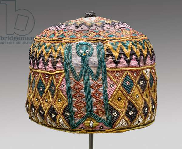 Orikogbofo (Diviner's Hat), 19th century (woven fabric, glass-seed beads)