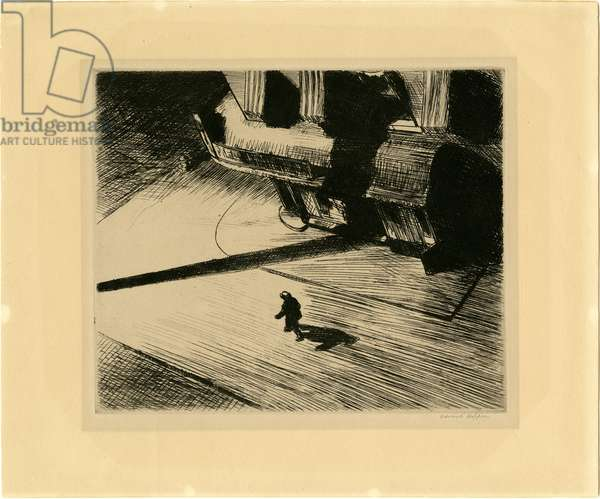 Night Shadows (from the Six American Etchings, (Series I), 1921 (published 1924) (etching)