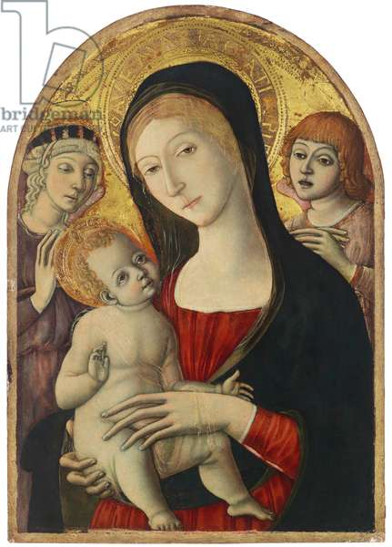 Madonna and Child with Angels, c.1485 (tempera on panel)