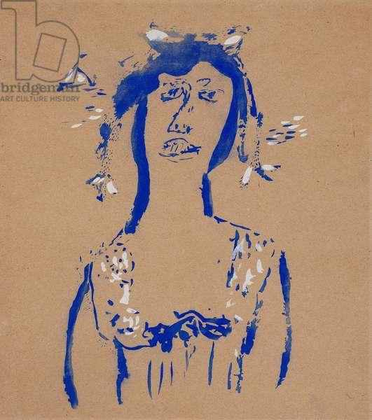 Woman's Head, c.1920-1930 (w/c on paper)
