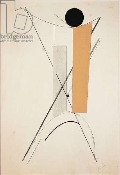 Proun II, 1923 (litho & collage on illustration board)