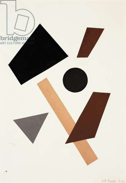 Untitled, 1917 (coloured paper collage on off-white wove paper)