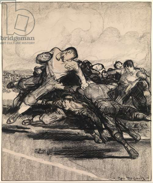 Football, 1912 (crayon, ink on paper)