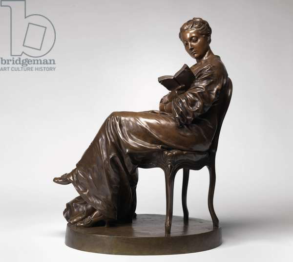 Woman Reading, c.1877 (bronze) (see also 712986)
