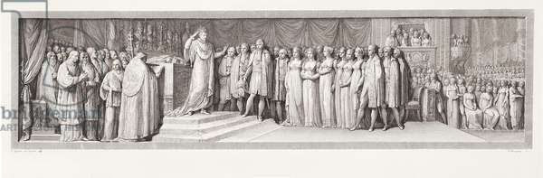 Napoleon Crowning Himself Emperor, engraved by Francesco Rosaspina (1762–1841), 19th century (engraving)