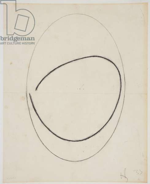 Study for a Carving, 1933 (pencil & pastel on paper)