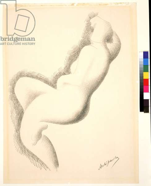 Nude Woman, 20th century (pencil on white paper)