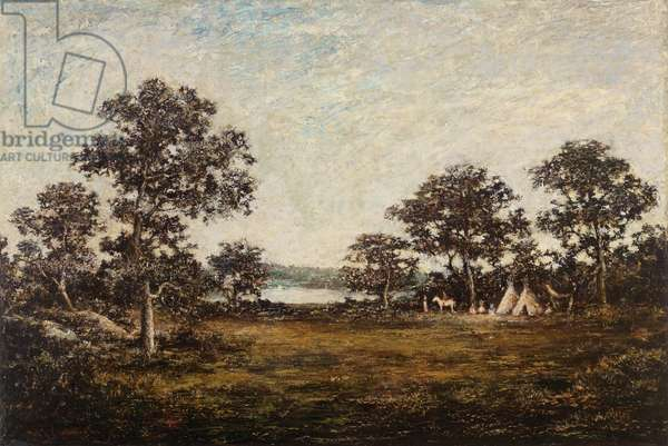 Amber Skies, late 19th century (oil on canvas)
