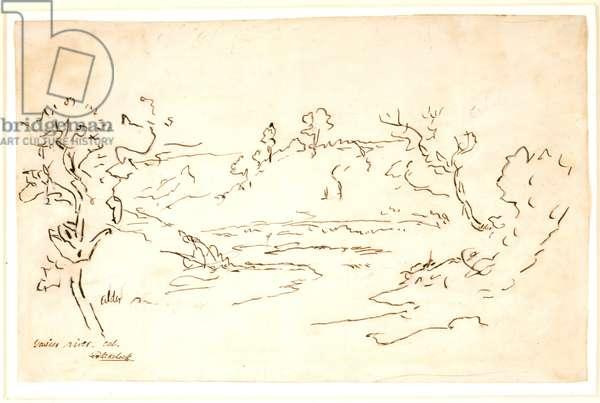 Gaiser River, California (pen & ink on white paper)