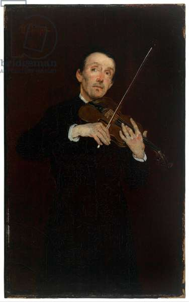 The Violinist (oil on canvas)