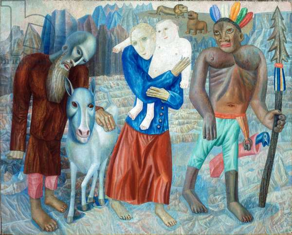 The Flight into Egypt (The Refugees), 1918 (oil on canvas)