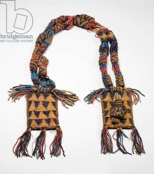 Odigba Ifa (Divination Necklace), early 20th century (glass beads on cloth) (see also 714279)