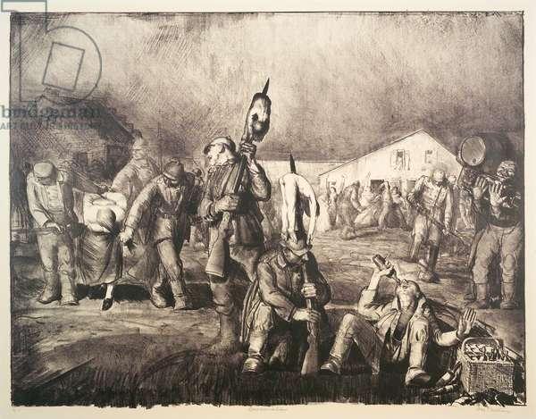 The Bacchanale, 1918 (litho)