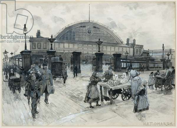 Central Station, 1893-94 (w/c gouache on paper)